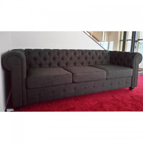 Sofa nâu đen 3 chỗ