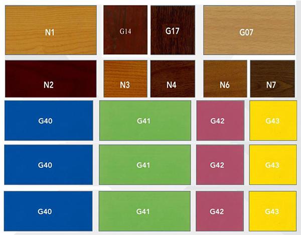Bảng màu gỗ sơn PU & veneer